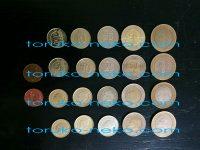 トルコリラのコイン・硬貨は500円玉くらいの大きさか?表裏とは。