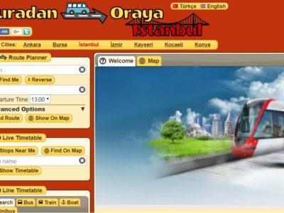 トルコ市バス 交通局 ウェブサイトのトップ画面の画像