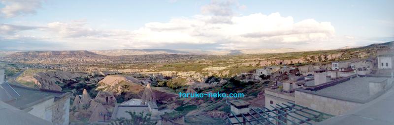 ウチヒサールのパノラマ風景