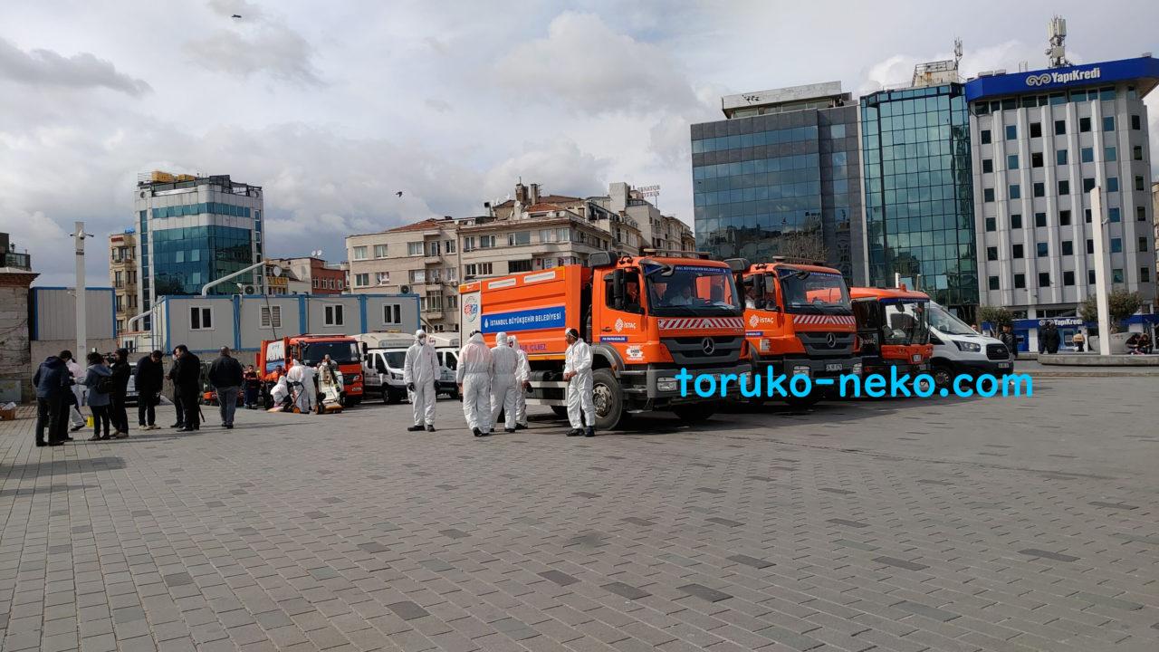 コロナウイルス感染症対策 トルコ イスタンブール 消毒